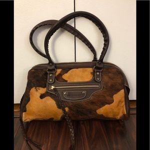 Francesco Biasia Pony Hair/cow hyde leather bag